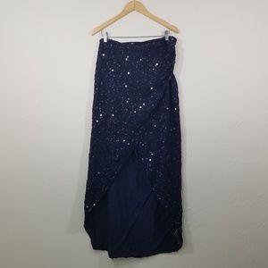 ASOS Wrap Maxi Sequin Maxi Skirt Size 10